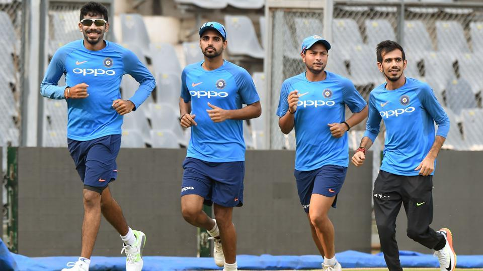 Live streaming of India vs New Zealand 1st ODI is available online. Indian cricketers warm up during a training session at the Wankhede Stadium in Mumbai.