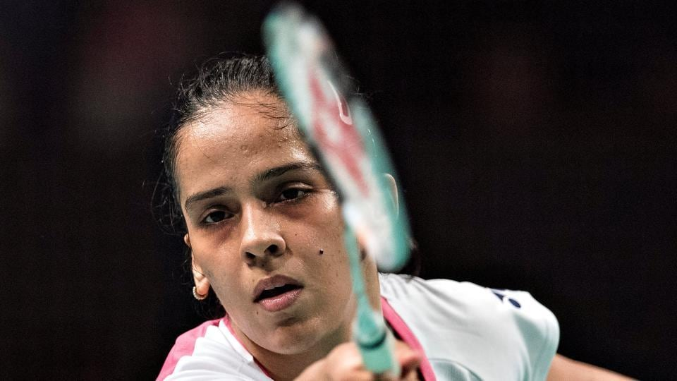 Saina Nehwal lost her women's singles quarterfinal of Denmark Open badminton to Akane Yamaguchi.