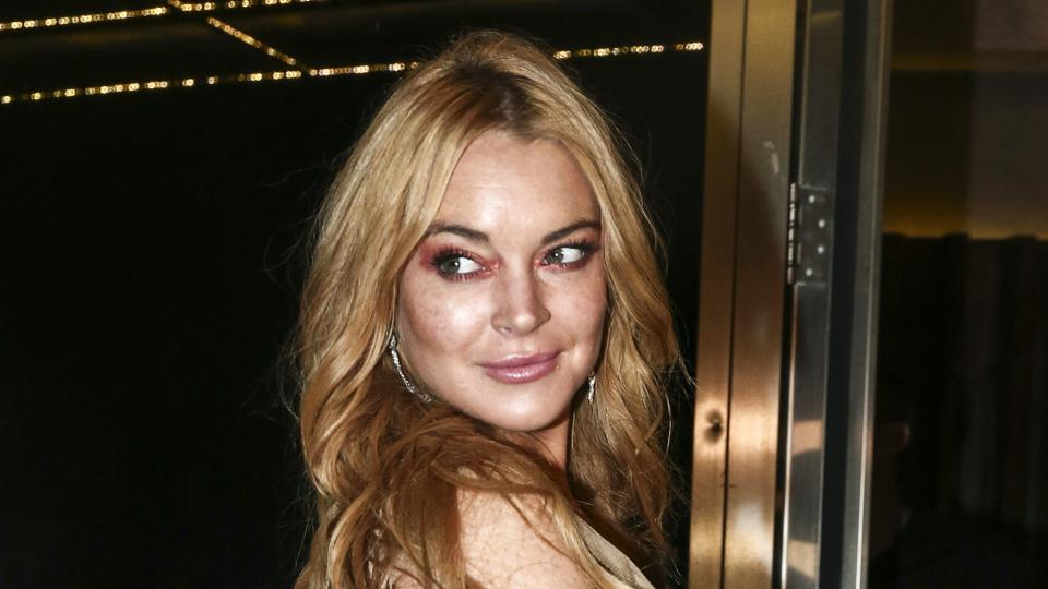 Lindsay Lohan appears at the opening night of the Lohan Nightclub in Athens, Greece.