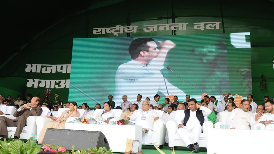 Lalu Prasad had organised 'Desh Bachao, BJP Baghao' rally at Gandhi Maidan in Patna on August 27.