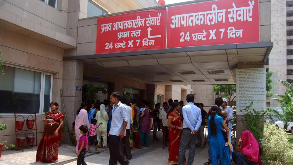 At District Hospital in Noida's Sector 30, two persons were treated for minor burns on Friday morning