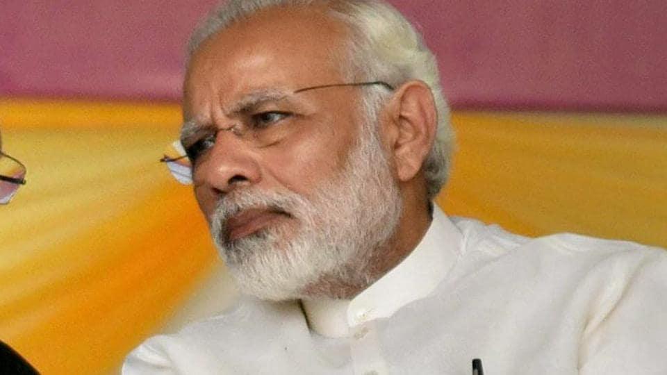 Prime Minister Narendra Modi in Patna, Bihar on October 14, 2017.