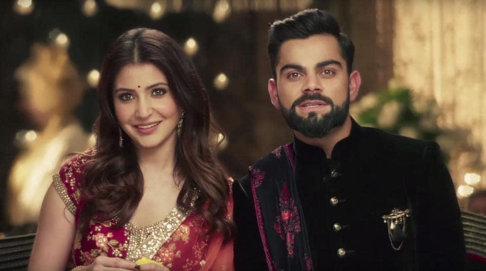 Anushka Sharma and Virat Kohli make the cutest couple.