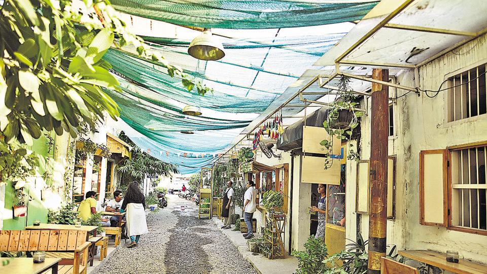 The little-known Champa Gali in south Delhi's Saidulajab village near Saket is the capital's own Parisian passageway, which offers a fine blend of coffee, art and culture.