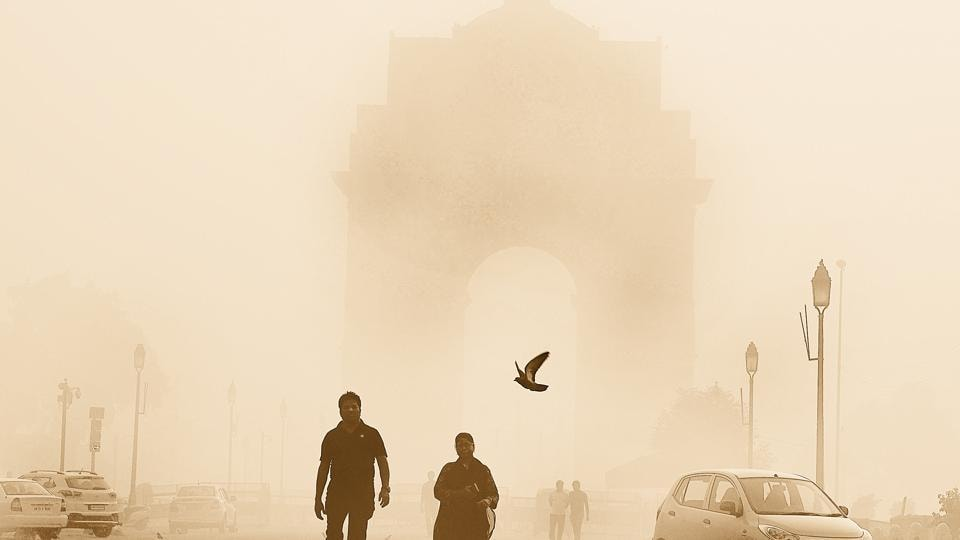 Delhi's overall Air Quality Index was 403,  considered as 'severe' category of pollution,  on Saturday morning.