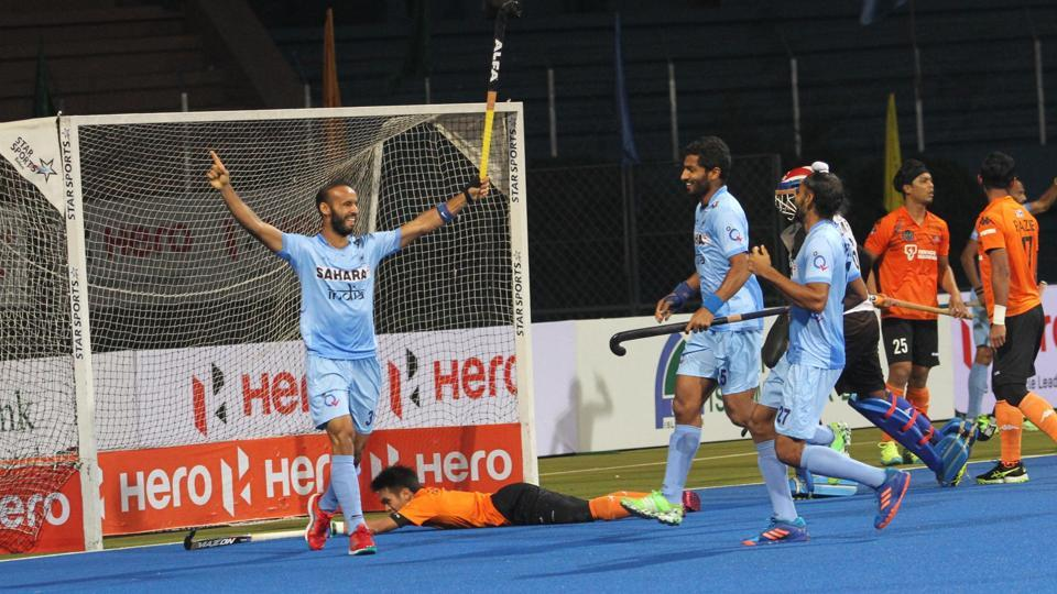 Ramandeep Singh gave India 1-0 lead against Malaysia in the third minute. (Hockey India)