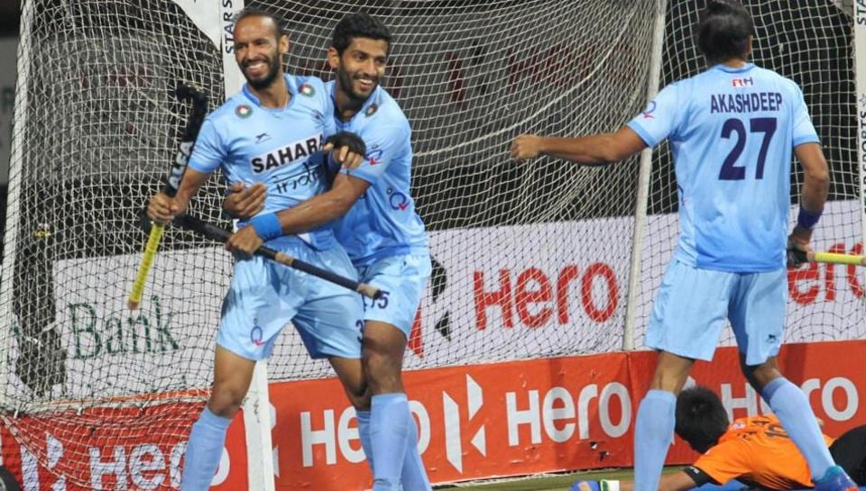 Though Malaysia got one back in the fourth quarter, India held to the lead and won the final 2-1. (Hockey India)