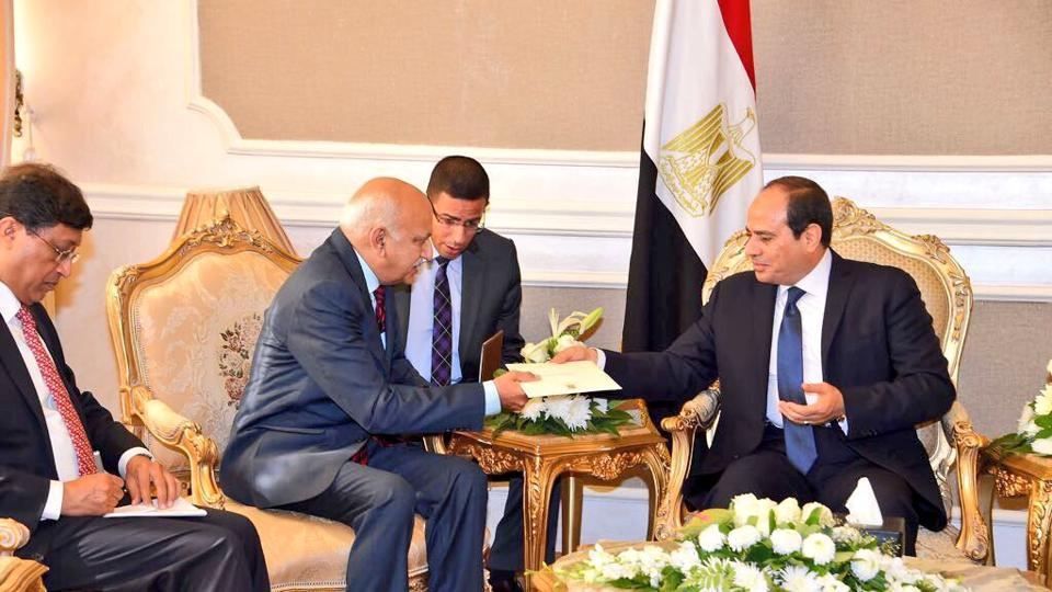 """Akbar, who called on President Sisi here on Saturday, described his meeting with the Egyptian leader as """"excellent""""."""