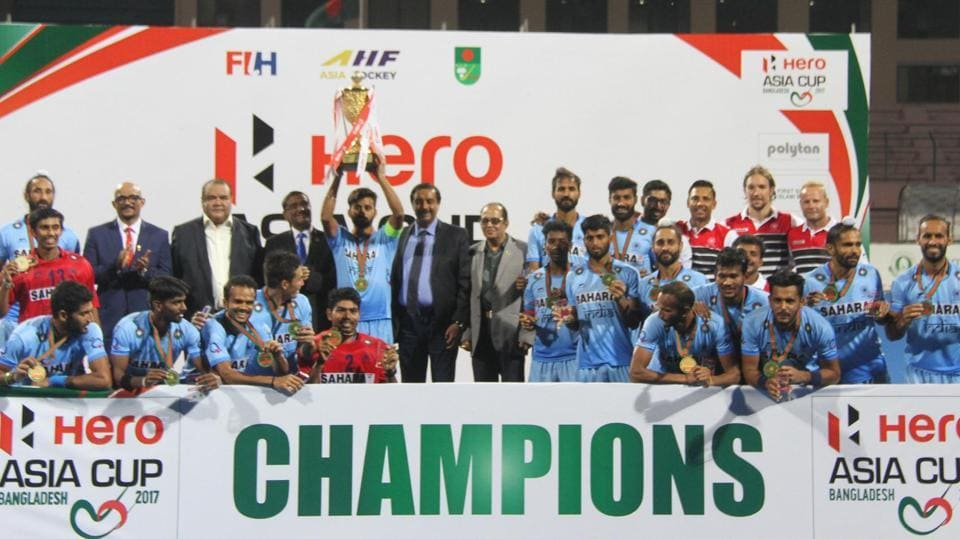India hockey team celebrates its Asia Cup win after defeating Malaysia in the final. (HockeyIndia)