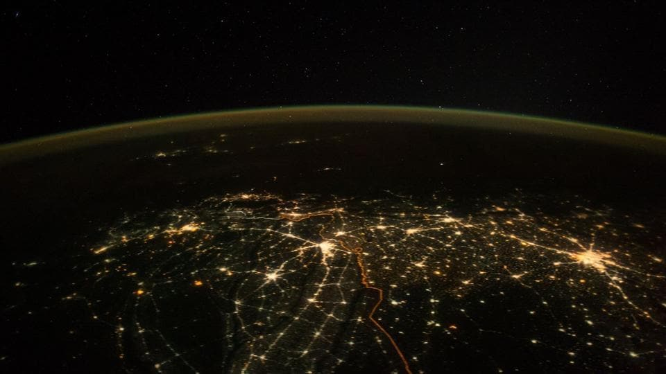 Paolo Nespoli tweeted the picture on Diwali, but his tweet does not mention the day it was captured.