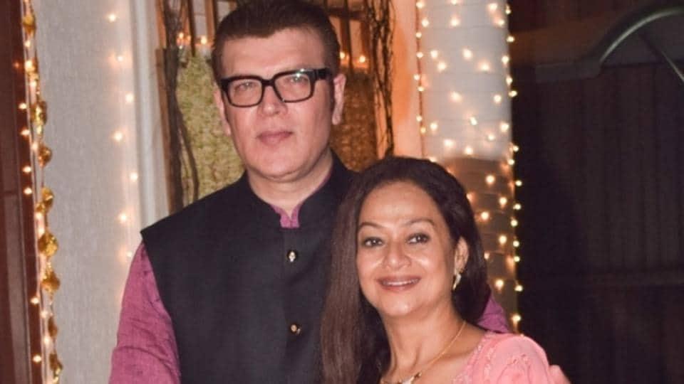 Aditya Pancholi and Zarina Wahab during a Diwali party hosted by Shilpa Shetty in Mumbai.