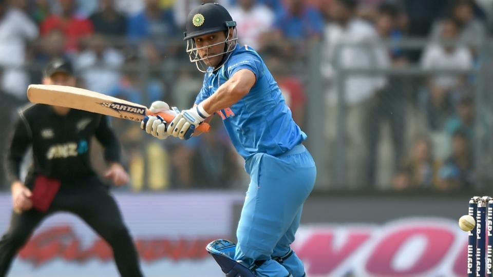Indian cricketer Mahendra Singh Dhoni plays a shot. (AFP)