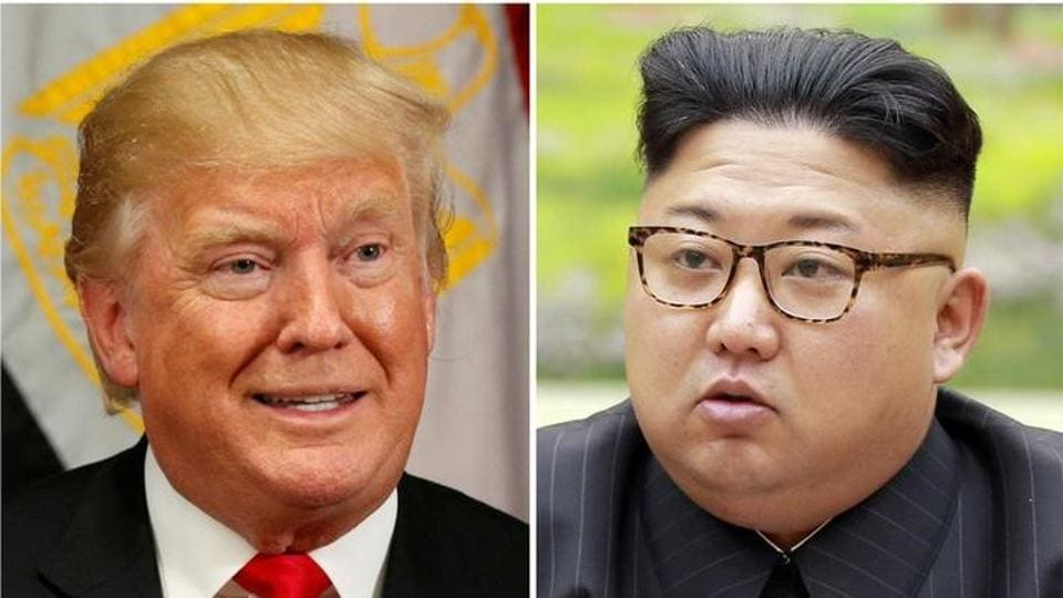 A combination photo shows US President Donald Trump and North Korean leader Kim Jong Un.