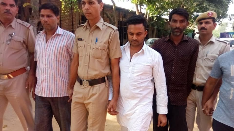 The accused were produced before a court on Saturday and as per the court direction, sent to Bhondsi jail on Sunday
