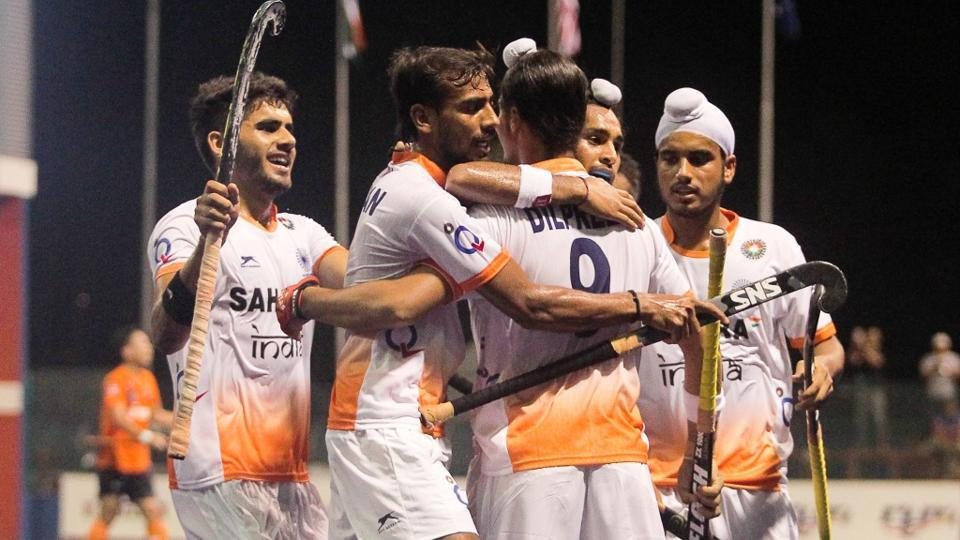 Dilpreet Singh's brace gave the Indian junior men's hockey team a 2-1 win over Malaysia in the Sultan of Johor hockey tournament.