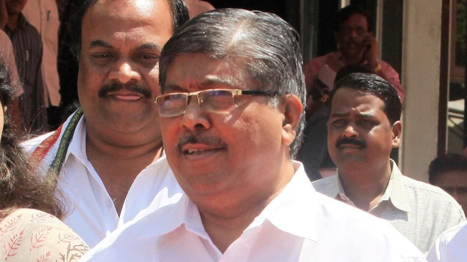 """Patil has been in the crosshairs after the guardian minister of Kolhapur said the Sena has become a """"laughing stock"""" for protesting against the government."""