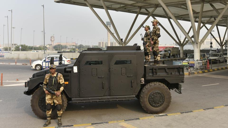 According to the CISF, though the vehicle will always be deployment ready, it will only be used only in case of an attack. The CISF has Quick Reaction Teams (QRTs) which are also equipped to chase and neutralise suspects and threats. (Vipin Kumar / HT Photo)