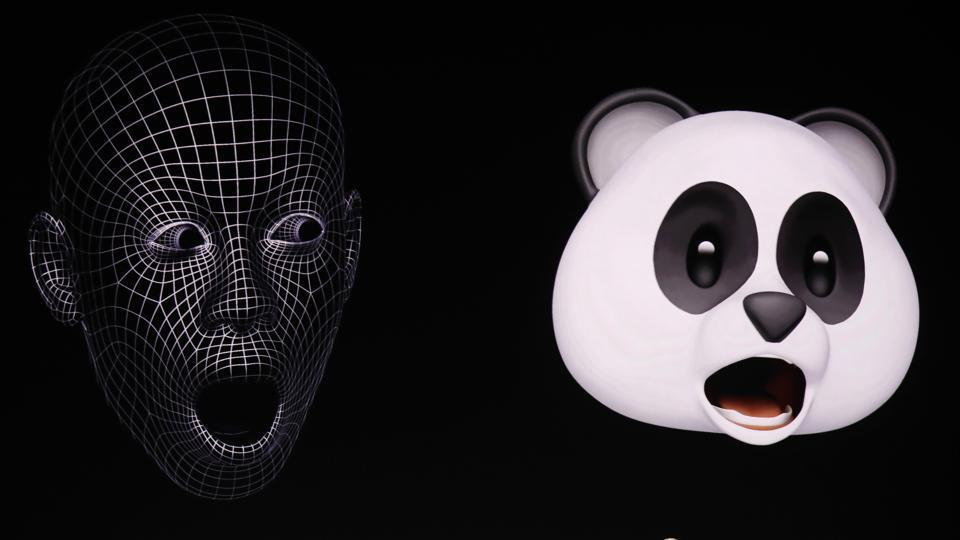 Apple Senior Vice President of Worldwide Marketing, Phil Schiller, shows Animoji during a launch event in Cupertino, California, U.S. September 12, 2017.