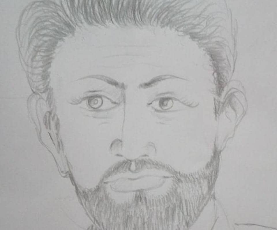 Based on the description provided by Ramu, the driver who was allegedly kidnapped by four men at gunpoint, police have released a sketch of one of the suspects.