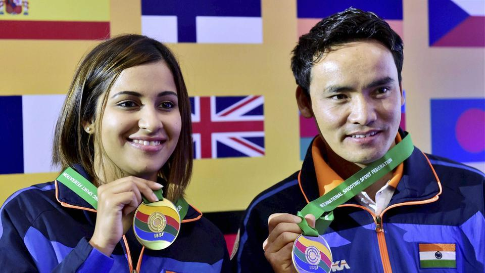 Heena Sidhu and Jitu Rai will be favourites going into the 10m air pistol mixed team event of the World Cup Final.