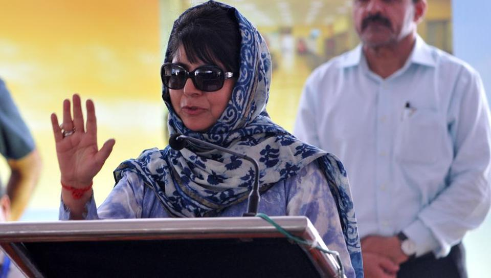Jammu and Kashmir CM Mehbooba Mufti says sustained dialogue to find a solution to the Kashmir issue was the only way forward. (Nitin Kanotra / HTfile photo)