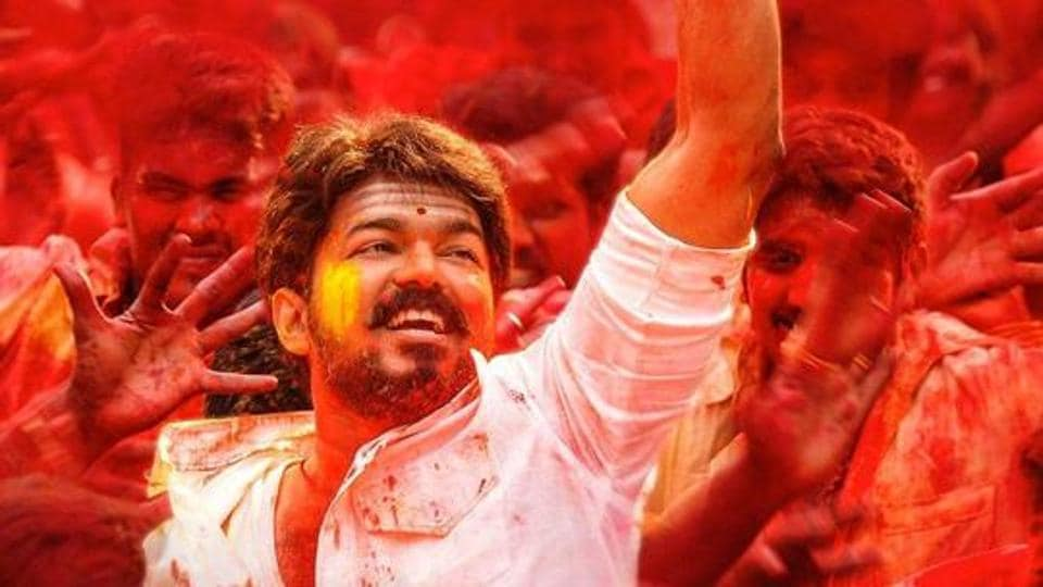 Vijay in a still from Mersal.