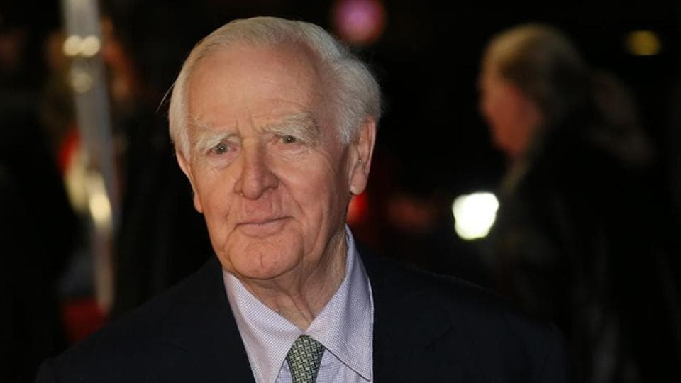 John le Carré at the premiere of The Night Manager, based on his 1993 novel, at the 66th Berlinale International Film Festival in 2016.