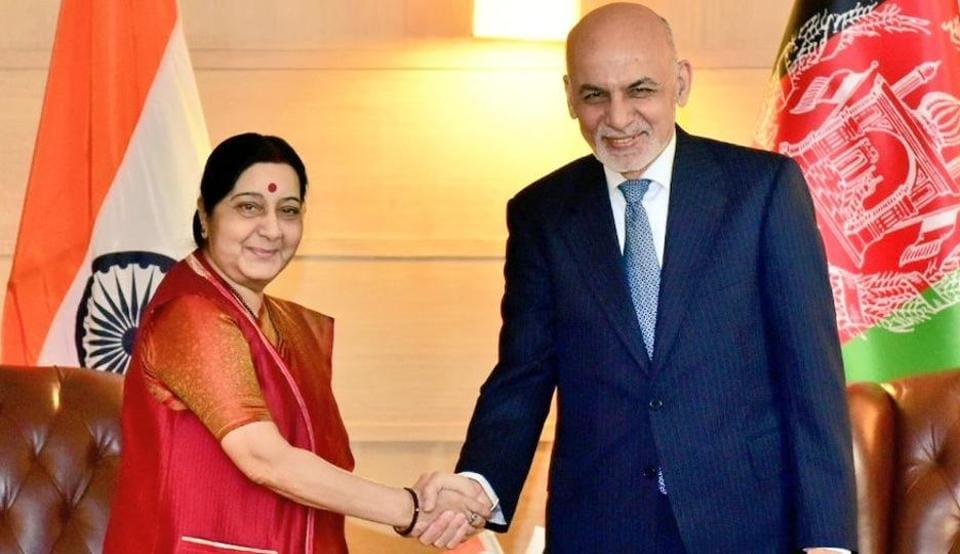Sushma Swaraj,Ashraf Ghani,Afghanistan