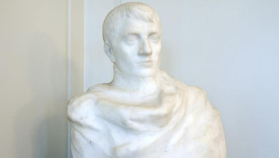 A bust of Napolean Bonaparte by Auguste Rodin.