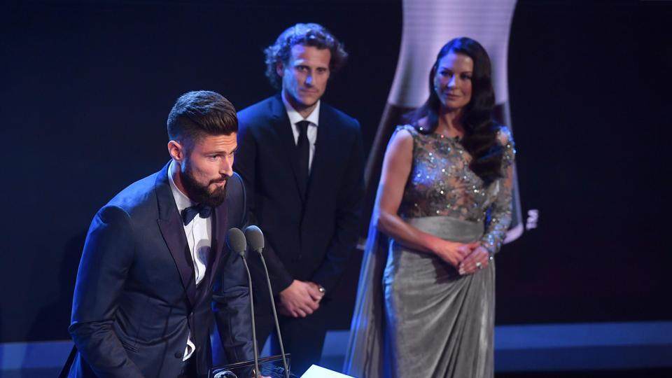 Arsenal and France forward Olivier Giroud won the 2017 FIFA Puskas Award for the most beautiful goal. (AFP)
