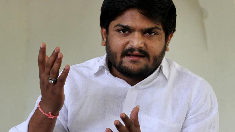 Patidar Anamat Andolan Samiti (PAAS) convener Hardik Patel during a press meet at his house in Ahmedabad.