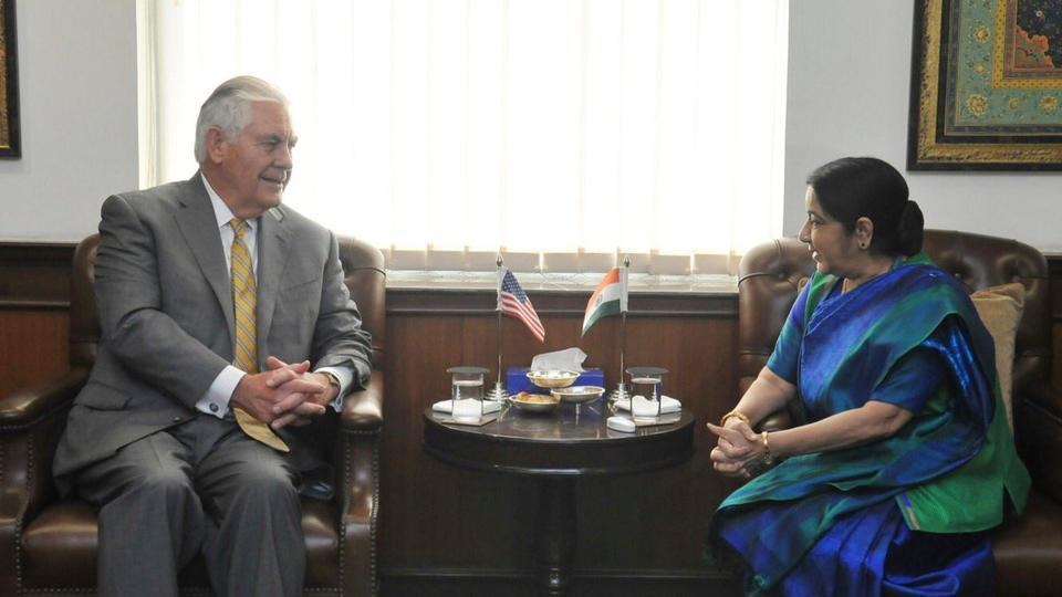 SushmaSwaraj and US secretary of state Rex Tillerson discussed bilateral, regional and global issues to further strengthen bonds of friendship on Wednesday.