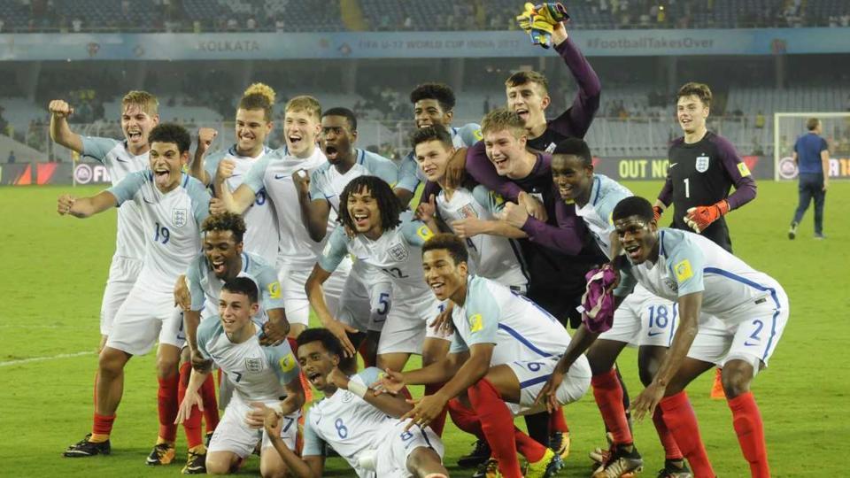 England defeated Brazil to reach the FIFAU-17 World Cup final. (SAMIRJANA/HTPHOTO)