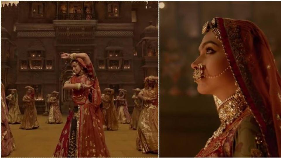Padmavati song Ghoomar has Deepika Padukone dancing up a storm as a besotted Shahid Kapoor watches on.