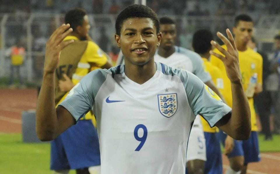 Rhian Brewster is the top scorer of the tournament with 7 goals. (SAMIR JANA/HT PHOTO)