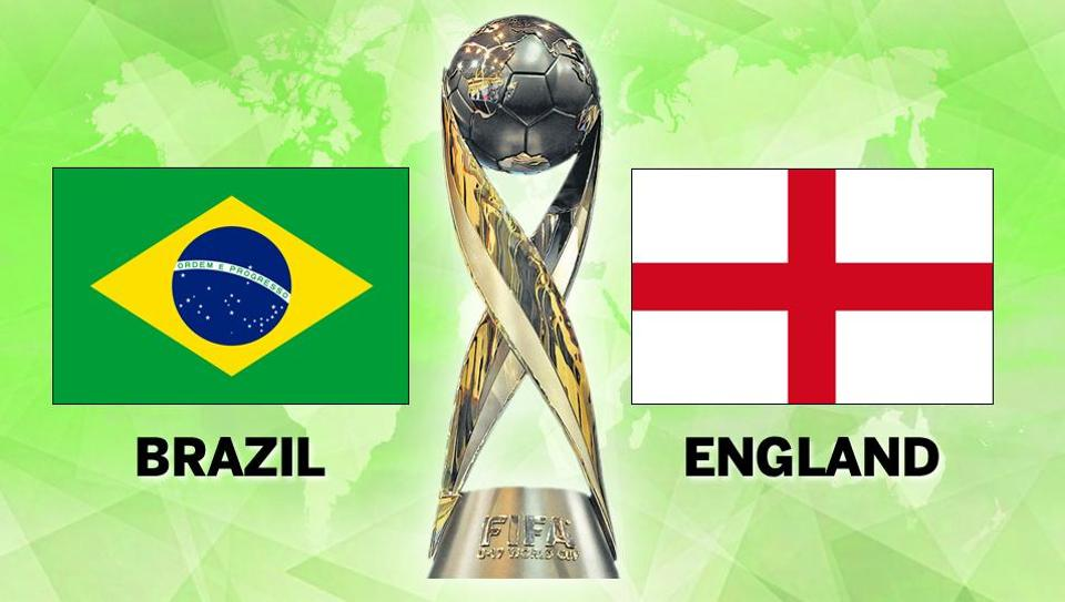 England beat Brazil in the FIFA U-17 World Cup semifinals in Kolkata. Follow full football score of Brazil vs England, FIFA U-17 World Cup semifinal, here.