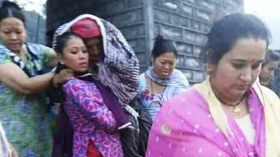 The pregnant woman, who was being taken for delivery, gave birth on a bridge in Tyuni area of Dehradun district on Tuesday.