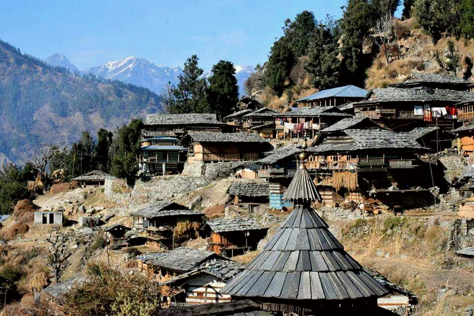 A view of  Bhitri village in Uttarkashi district where there are not  sufficient toilets for villagers.