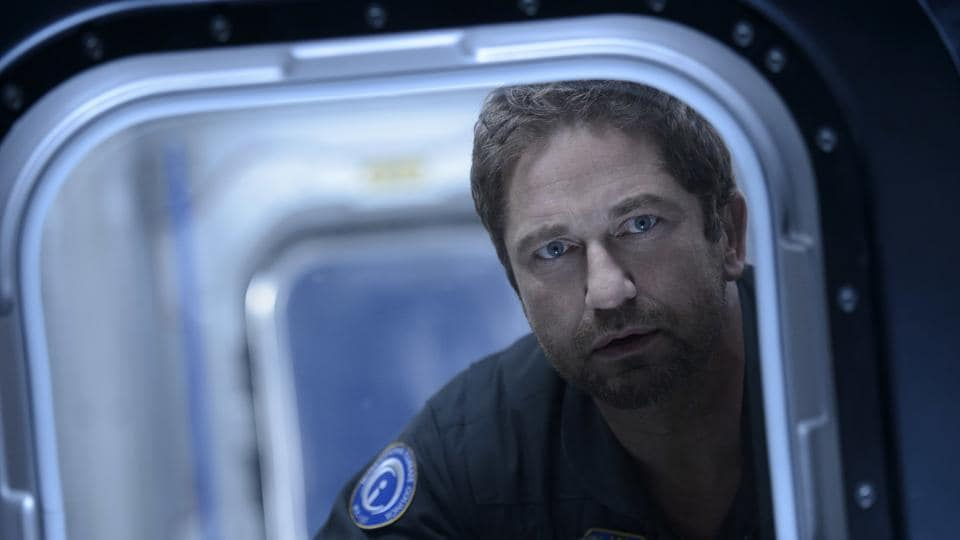 This image released by Warner Bros. Entertainment Inc. shows Gerard Butler in a scene from Geostorm.
