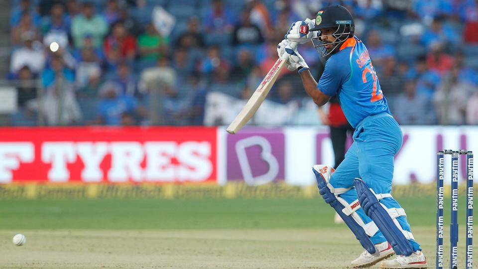 But Shikhar Dhawan stuck it out in the middle to anchor the Indian innings. (BCCI)