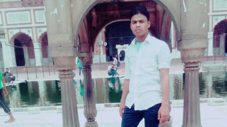 Afile photo of Junaid, who killed on an EMU train on Delhi-Ballabhgarh stretch in Haryana.