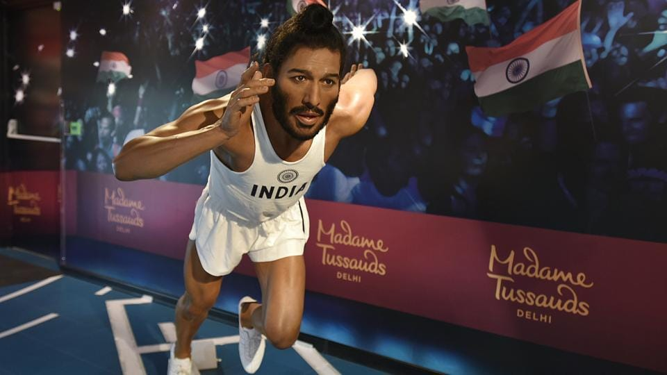 Milkha Singh also known as The Flying Sikh, former Indian track and field sprinter's wax statue is also displayed at the museum.  (Raj K Raj / HT PHOTO)