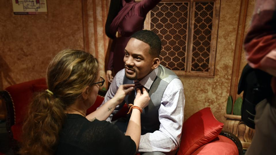 Actor Will Smith's wax statue is also the part of the 23th Madame Tussaud Wax Museum. Each wax figure is created with the expertise of over 20 international artists. (Raj K Raj/HT PHOTO)
