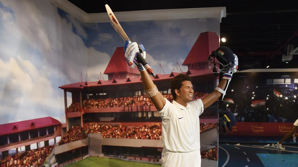 The 23th Madame Tussaud Wax Museum in New Delhi also houses Sachin Tendulkar's wax figure. Each statue at the museum is constructed  at a cost of Rs. 1.5 crores. (Raj K Raj / HT PHOTO)