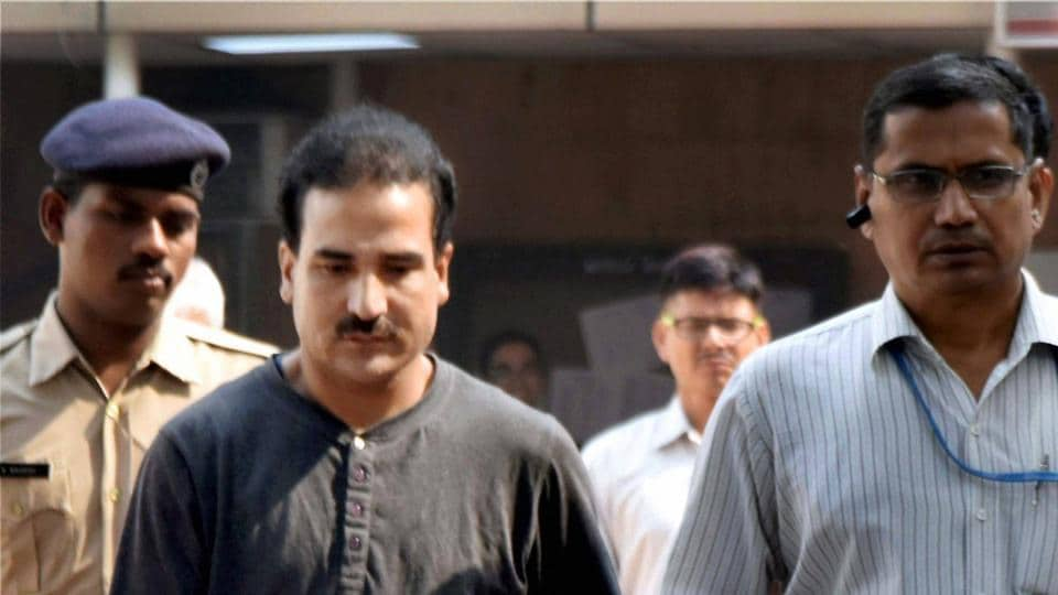 Syed Salahuddin's son Syed Shahid Yousuf, who was arrested by the NIA, being produced at the Patiala House Court in New Delhi on Wednesday.