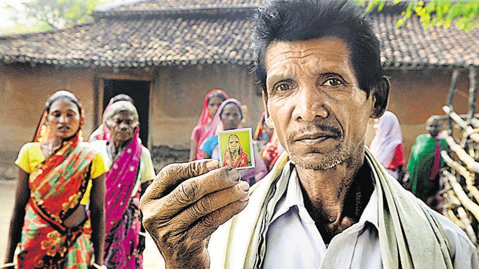 Relatives of Bibi Devi, one of the victims of last week's killing, in Ranchi on Wednesday.