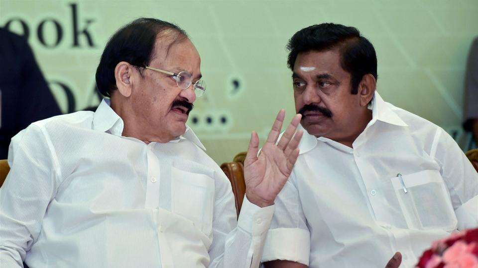 Tamil Nadu CM Palaniswami, seen with Vice President M Venkiah Naidu, directed all district collectors and police to take strict against those who charge heavy interest.