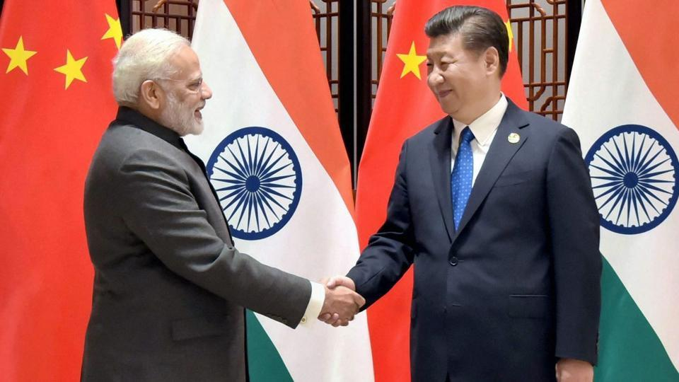 Prime Minister Narendra Modi meeting the President of the People's Republic of China, Xi Jinping, on the sidelines of the 9th BRICS Summit, in Xiamen, China on September 5, 2017.