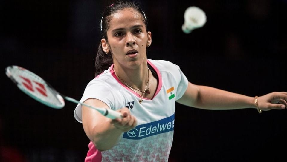 Indian badminton player Saina Nehwal lost her women's singles second round to Japan's Akane Yamaguchi in Paris on Thursday.