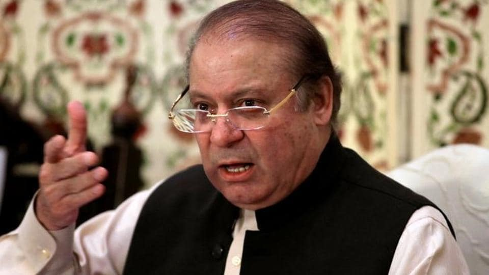 Pakistan's former prime minister Nawaz Sharif speaks during a news conference in Islamabad, Pakistan.